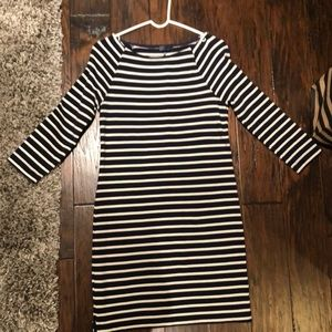 Gap 3/4 Sleeve Stripped Dress